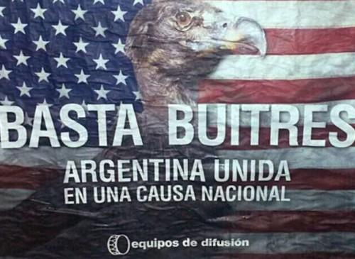 Basta buitres fonds vautour argentine.jpg