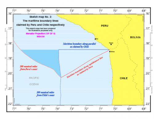 frontière chili-pérou,cour de la haye,différend maritime,pêche de l'anchois,pêche en amérique latine